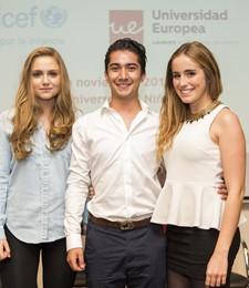 Andrea Fernández, David Estaragués y Beatriz Lono