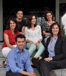 Giancarlo Ferrari, Belén Murillo, Raquel Pereda, Cristina Peláez, Leticia Martínez y Mercedes Escalante